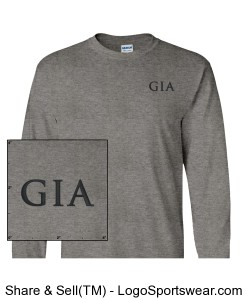 Men's Long-Sleeve T-Shirt - Sport Grey (Embroidered) Design Zoom